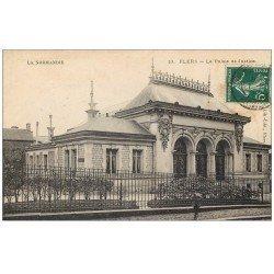 carte postale ancienne 61 FLERS. Palais de Justice 1908
