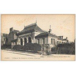 carte postale ancienne 61 FLERS. Tribunal Commerce et Caisse d'Epargne
