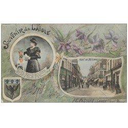 carte postale ancienne 61 LAIGLE L'AIGLE. Rue de Becane et Aiglonne 1907. Pasquis
