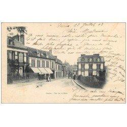 carte postale ancienne 61 LAIGLE L'AIGLE. Rue de la Gare 1903 Hôtel du Chemin de Fer