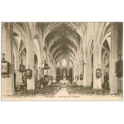 carte postale ancienne 61 MORTAGNE. Eglise Notre-Dame intérieur