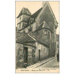 """carte postale ancienne 61 MORTAGNE. Maison Henri IV. Affiche """""""" Le Journal """""""""""