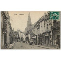 carte postale ancienne 61 SEES. Rue Billy 1910 Grand Bazar