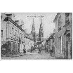 carte postale ancienne 61 SEES. Rue Conté