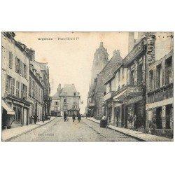 carte postale ancienne Superbe Lot 10 Cpa 61 ARGENTAN. Place Henri IV, Champ de Foire, Caserne, Place Collège, Pont, Eglise...