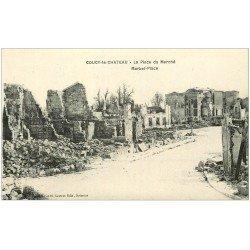 carte postale ancienne 02 COUCY-LE-CHATEAU. Place du Marché