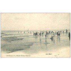 carte postale ancienne 62 A identifier. A la Mer la Plage