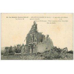 carte postale ancienne 62 ABLAIN-SAINT-NAZAIRE. La Mairie en ruine