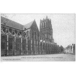 carte postale ancienne 62 AIRES-SUR-LA-LYS. Eglise Saint-Pierre 1911
