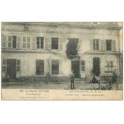 carte postale ancienne 62 AIX-NOULETTE. Grande Rue. Guerre 1914-18