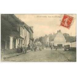 carte postale ancienne 62 AIX-NOULETTE. Route Nationale 1912