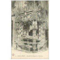 carte postale ancienne 01 BOURG. Eglise de Brou. Mausolée Marguerite d'Autriche