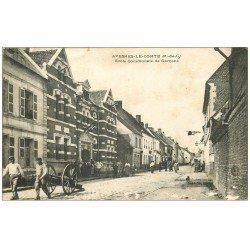 carte postale ancienne 62 AVESNES-LE-COMTE. Ecole Communale de Garçons 1907