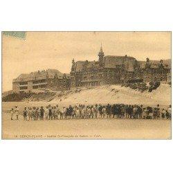 carte postale ancienne 62 BERCK. Institut Saint-François de Salles 1924