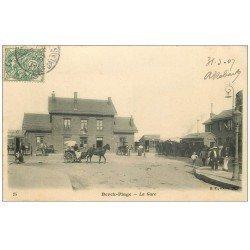 carte postale ancienne 62 BERCK. La Gare 1907