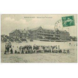 62 BERCK. Lot 10 Cpa Maison Cazin Perrochaud, lea Anières entonnoir, Matelottes, Bateau Sauvetage, Hôpital, Institut...
