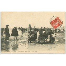 carte postale ancienne 62 BERCK-PLAGE. Arrivée des Macrieux 1913. Métiers de la Mer