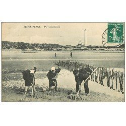 carte postale ancienne 62 BERCK-PLAGE. Parc aux Moules. Métiers de la Mer