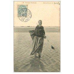 carte postale ancienne 62 BERCK-PLAGE. Vérotière 1904. Métiers de la Mer