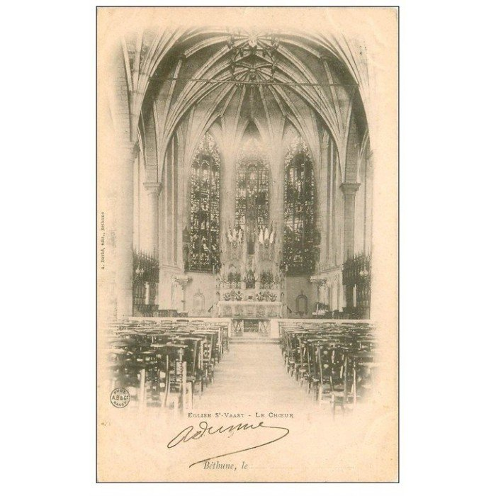 62 bethune eglise saint waast choeur 1902. Black Bedroom Furniture Sets. Home Design Ideas