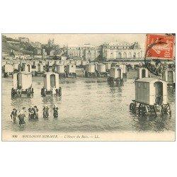 carte postale ancienne 62 BOULOGNE-SUR-MER. Cabines de Bains 1913