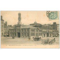 carte postale ancienne 62 BOULOGNE-SUR-MER. La Halle aux Poissons 1906