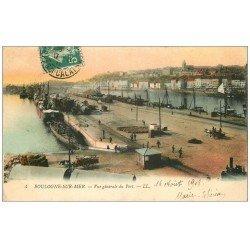 carte postale ancienne 62 BOULOGNE-SUR-MER. Le Port 1908