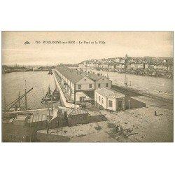 carte postale ancienne 62 BOULOGNE-SUR-MER. Port et Ville