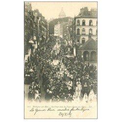 carte postale ancienne 62 BOULOGNE-SUR-MER. Procession Notre-Dame des Flots 1905