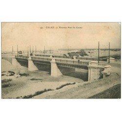 carte postale ancienne 62 CALAIS. Nouveau Pont du Casino 1911