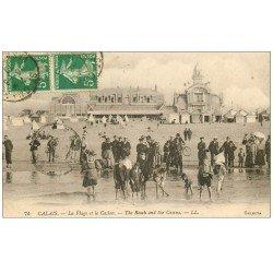 carte postale ancienne 62 CALAIS. Plage et Casino 1919