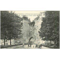 carte postale ancienne 02 COUCY-LE-CHATEAU. Porte de Laon avec Enfants