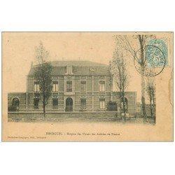 carte postale ancienne 62 ISBERGUES. Hospice Usines Aciéries de France 1906