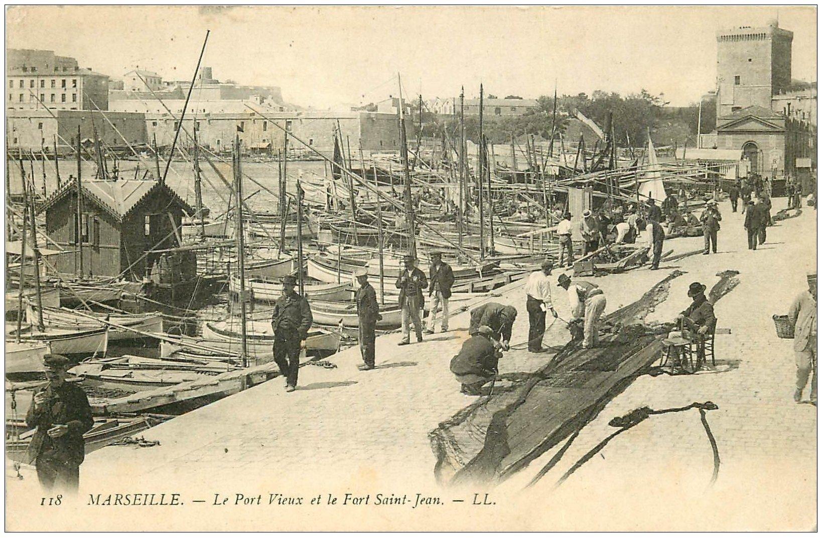13 marseille port vieux et fort saint jean 1906 - Parking vieux port fort saint jean marseille ...