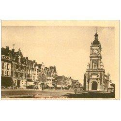 carte postale ancienne 62 LENS. Eglise et Banque du Nord