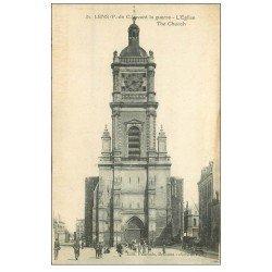 carte postale ancienne 62 LENS. Eglise Saint-Léger n°31