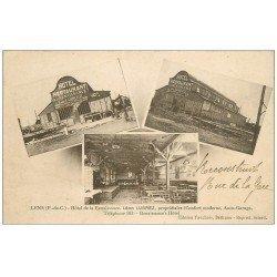 carte postale ancienne 62 LENS. Hôtel Restaurant de la Renaissance Rue de la Gare