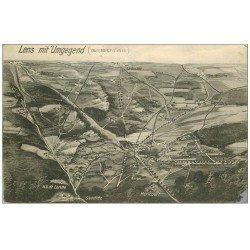 carte postale ancienne 62 LENS. Mit Umgegend. Avec ses environs 1916