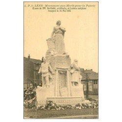carte postale ancienne 62 LENS. Monument Barthelet et Lesieux