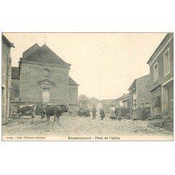 carte postale ancienne 70 BOUSSERAUCOURT. Place de l'Eglise 1909