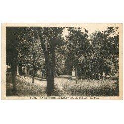 carte postale ancienne 70 DAMPIERRE-SUR-SALON. Le Parc 1934 avec nombreux Enfants