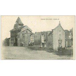 carte postale ancienne 70 ECUELLE. Poilus Guerre 1914-1918