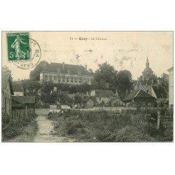 carte postale ancienne 70 GRAY. Le Château et les Jardins autour 1908