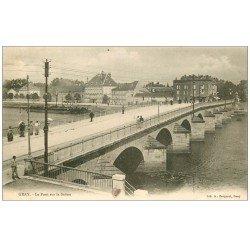 carte postale ancienne 70 GRAY. Le Pont vers 1900