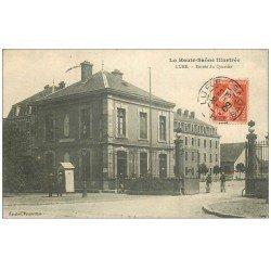 carte postale ancienne 70 LURE. Entrée du Quartier 1909. Carserne Militaires