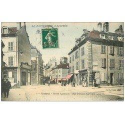 carte postale ancienne 70 VESOUL. Banque Crédit Lyonnais Rue Alsace-Lorraine 1914