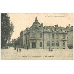 carte postale ancienne 70 VESOUL. La Caisse d'Epargne 1916
