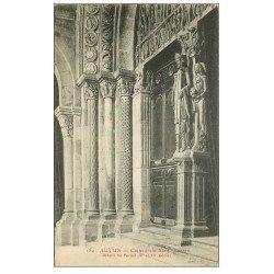 carte postale ancienne 71 AUTUN. Portail Cathédrale Saint-Lazare
