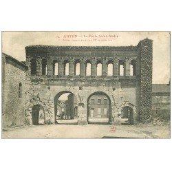 carte postale ancienne 71 AUTUN. Porte Saint-André 1915