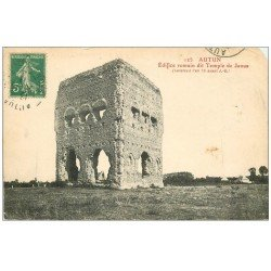 carte postale ancienne 71 AUTUN. Temple de Janus 1921